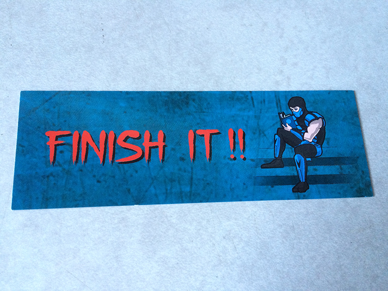 Geek Fuel: Finish It!! Bookmark
