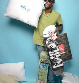 Israel West, he'll knock you out with a pillow.  Dave Brewer Photobooth.