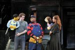 Left to Right: Princeton, Brent Michael DiRoma, Nigel Jamaal Clark, Kate Monster, Jacqueline Grabois from Avenue Q National Tour 2009. Photo: John Daughtry