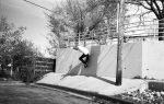 On the west side you never know when you are going to be running from the cops. So its always good to practice jumping fences and riding walls. Mike Murdock. Photo: Sam Milianta