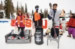 Men's Ski 17 and under winners (L to R)� PJ Baymiller 3rd, Ricky Webber 2nd, Trevor Akimoto 1st. Photo: Gagethompson.com
