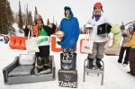 Men's Open Ski winners (L to R)� Alex Buller 3rd, Oeysten Scyawoe 1st, Brendan Trieb 2nd. Photo: Gagethompson.com
