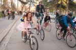 Over 100 cyclists rode to the first annual Bike Prom last month on April 16. Photo: Max Lowe