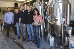 The team behind Park City's Shades of Pale L-R: Account Executive, Jake Wood; Brewery Engineer, Stan Hooley; Head Brewer, Matt Davis; Owner/Janitor, Trent Fargher and Marketing and Merchandising,           Alexandra Ortiz de Fargher. Photo: Katie Panzer