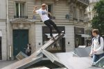Dan Shaw, rock fakie in Paris. Photo courtesy of Bolts of Thunder