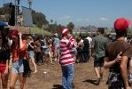Waldo from Where's Waldo? at FYF Fest. Photo: Todd Seelie
