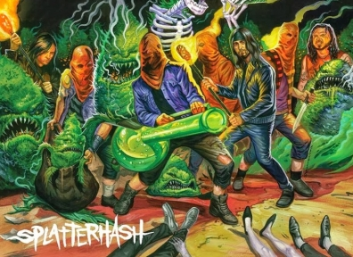 Review: Cannabis Corpse/ Ghoul – Splatterhash Split
