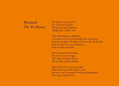 Review: Weekend – The '81 Demos