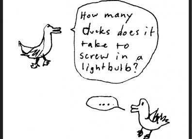 Oliver Buchanan Comic: Forgetful Joke-Telling Duck