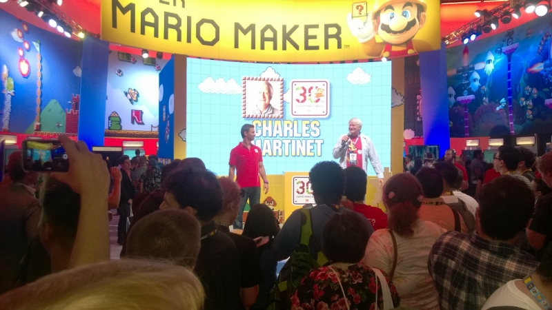 Mario Maker and Charles Martinet