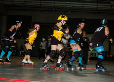 Through Broken Glass and Crushed Throats: The Derby Girls Go At It