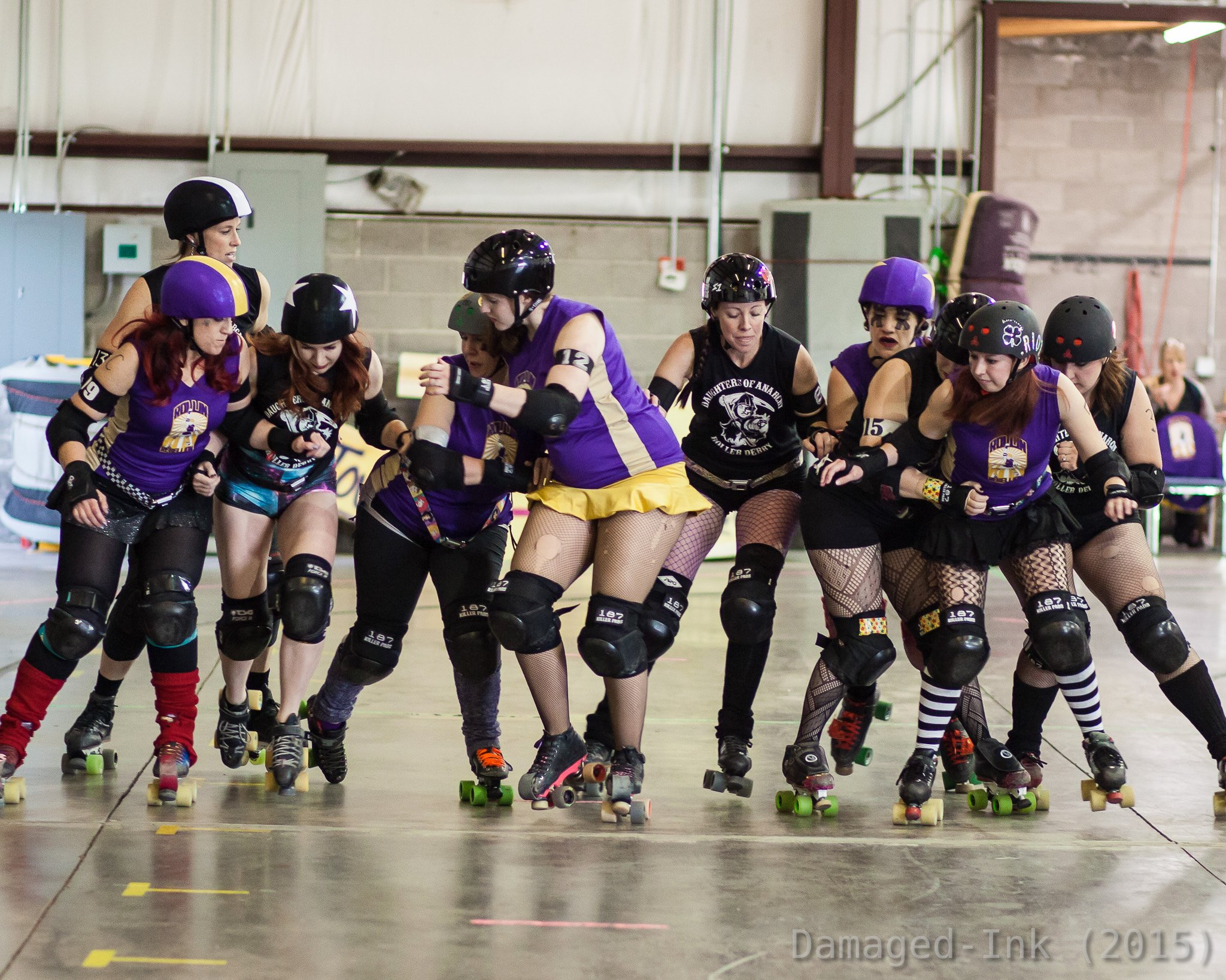 Rollin Rebellion vs Daughters of Anarchy 04.11. Photo Courtesy of Damaged-Ink