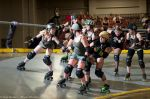 SCDG's Sisters Face Off Against the Bomber Babes. Photo: Shooter