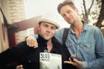Danny and Mike outside the SLUG Mag HQs with our November issue. Photo: Avery Carlton