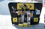 (L-R) Scotty Lago in second, Shaun White in first, Luke Mitrani in third for Men's Snowboarding. Photo Courtesy: Rob Mathis