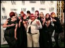 Heggy Gonzalez and RAW awards model team. Courtesy of RAW Events