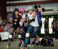 Junction City Trainwrecks vs. Colorado Rock'n Rollers. Photo: Chris Bojanower