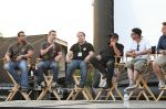 The Sandlot cast answers questions before the film screening. Photo: Cara Stosich