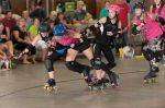 Grand Junction Roller Girls and Junction City getting physical.Photo: Chris Bojanower