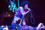 Solange grinds low at FYF Fest. Photo: Tod Seelie