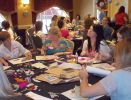 "Participants crafting their ""passion"" at the On The Edge of The Bed event. Photo: Amanda Rock"