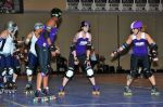 Rose City vs. Denver at RollerCon putting the no-block strategy into action. Photo: Jason Santti
