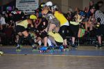 Shortbus vs. Amazons, Challenge Bout at RollerCon. Photo: Jason Santti