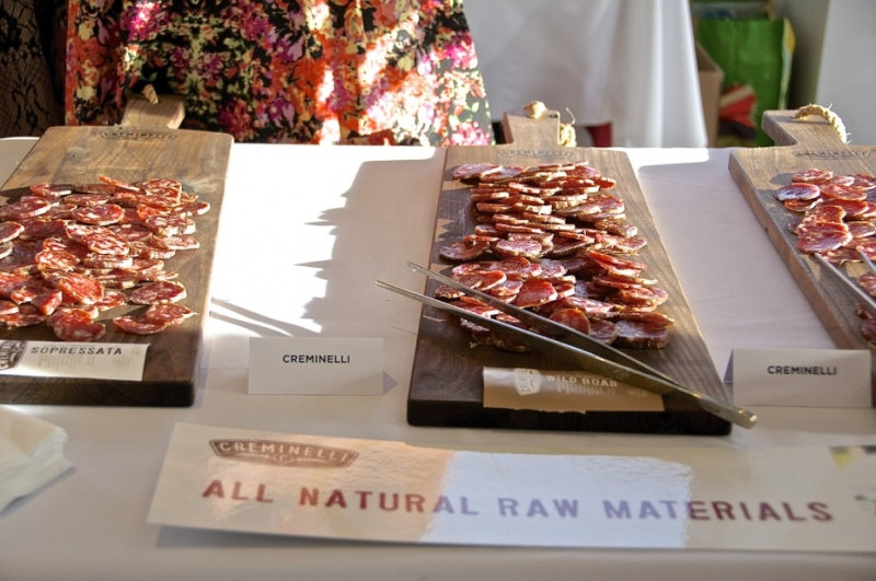 Creminelli presented their all-natural line of salamis. Photo: Martin Rivero