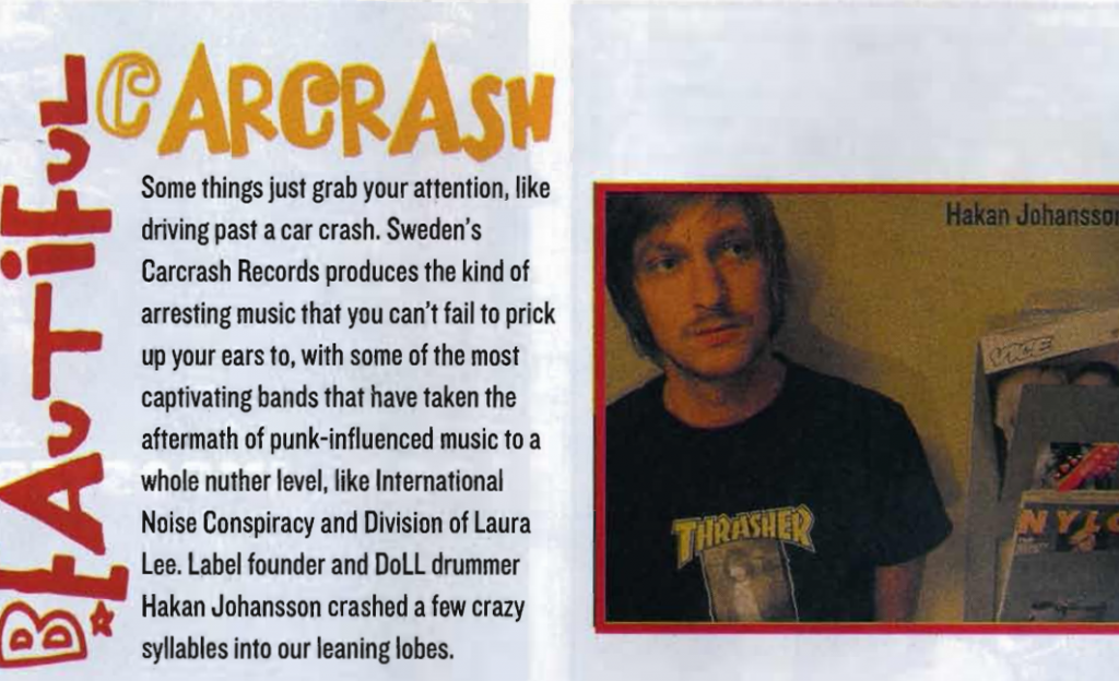 Indie Label Spotlight: Carcrash Records