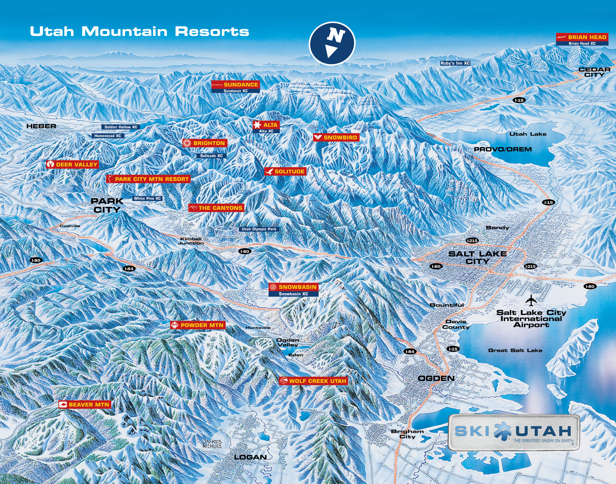Ski Utah Map Katchup   November 2004   SLUG Magazine
