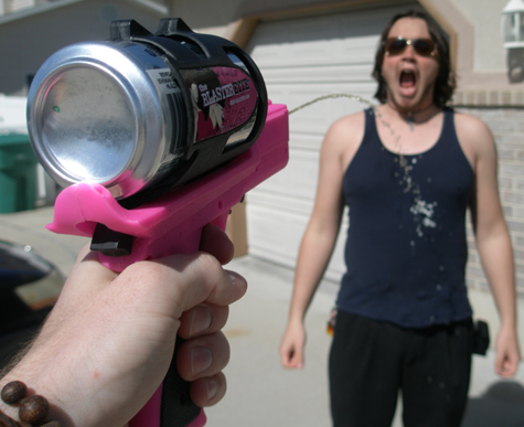 Reviews of beer-related products, including a beer blaster, hangover pills, PBR apparel and sexy beer bongs.