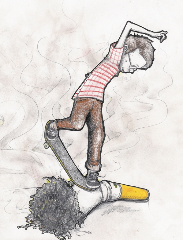 """""""If you got love for skating and your local park then stop littering the place up. And yes, cigarette butts count as littering too"""""""