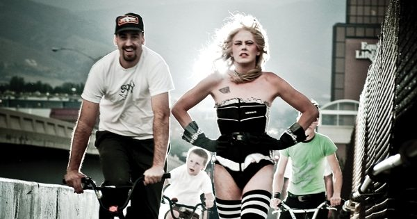 Kennedy and her bike cronies. Photo: David Newkirk