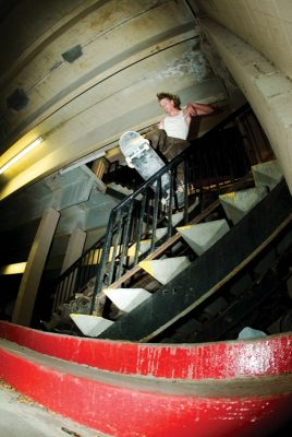 Keepin� it kryp in the crypt on a Odeus fiberlam deck, Frontboard, Kendall Johnson.