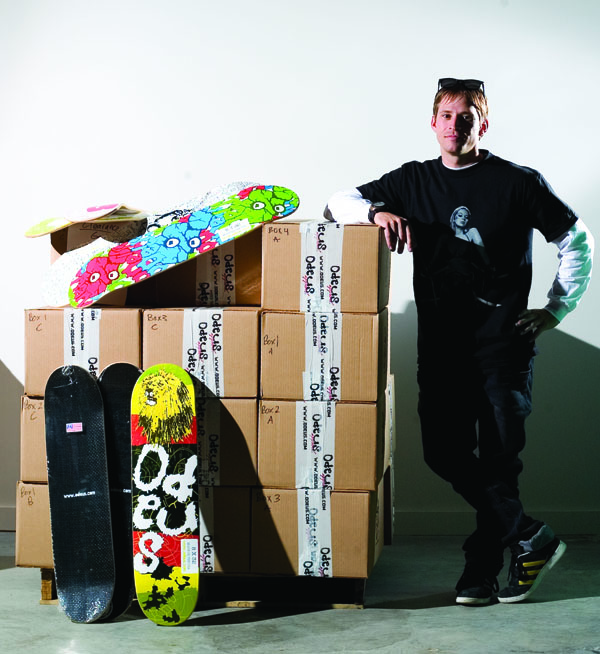 The Blue Collar of Odeus Skateboards