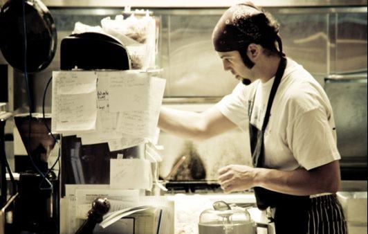 Head Chef Adam Kreisel in the Tipica Kitchen.