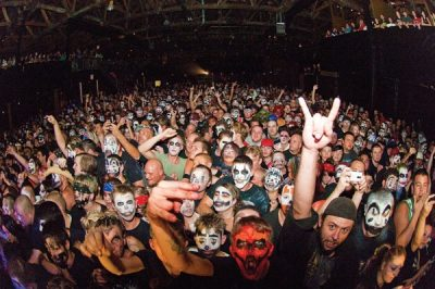 Local Juggalos getting down with The Clown during ICP�s Utah show.
