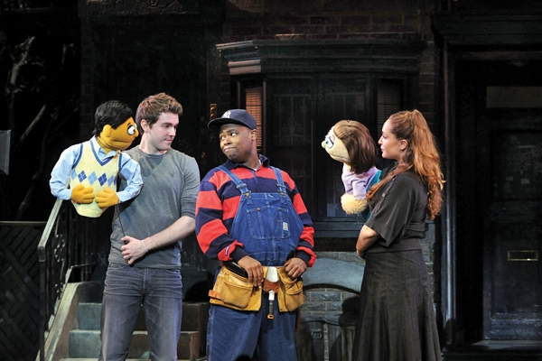 Left to Right: Princeton, Brent Michael DiRoma, Nigel Jamaal Clark, Kate Monster, Jacqueline Grabois from Avenue Q National Tour 2009.