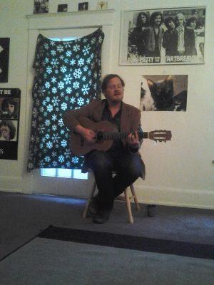 Michael Nau of Cotton Jones plays a small, living room show.