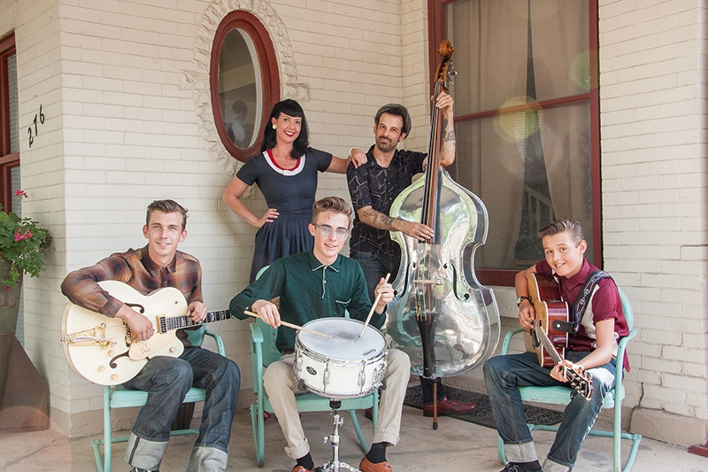 The Maxwells (L-R): Wyatt, Angela, Cole, Shane Kiel and Duke) continue in their passion for music as Mad Max & the Wild Ones.