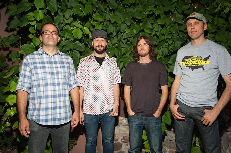(L–R) Mike Torgerson, Mike Sasich, Rob Reinfurt and Shaun Thomas of The Weekenders slam out modern, sludgy tunes with a classic rock n' roll flavoring.