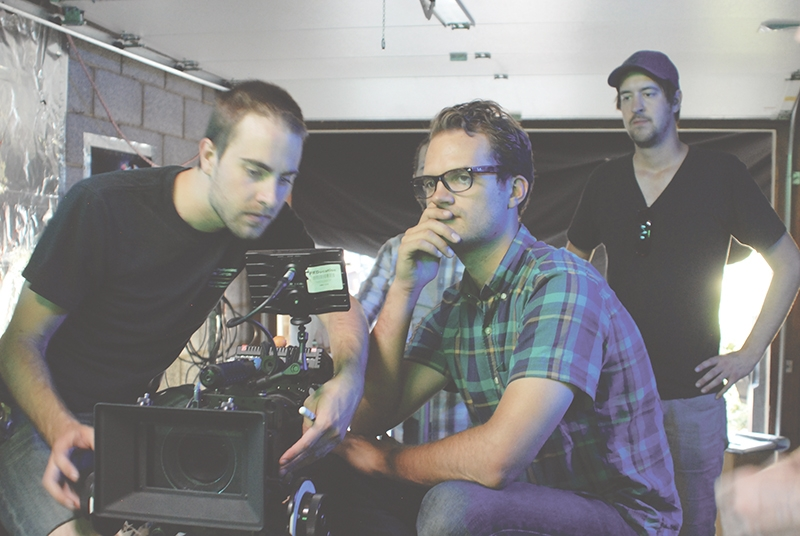 Part of the Point B film crew: (L-R) Connor Rickman, Sean Bagley and Erich Cannon, shooting onsite in Salt Lake City for their first full-length film.