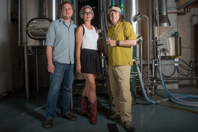 Utah Brewers' Guild President Phil Handke, Communications Director Erika Palmer and Treasurer Chris Haas are guild members working to unite brewers in the Beehive State.