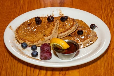 The Americana Pancakes at Sage's Cafe are eye-rollingly good!