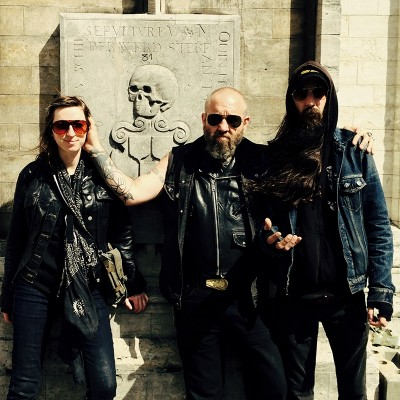 (L–R) Darcy Nutt, Chad Remains and Chuck Watkins of UZALA play heavy, psychedelic doom that would fill the Norse gods with somber pride.