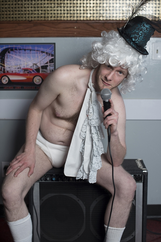 Jonny Brandin regularly picks themes for the Tuesday-night comedy shows at Mo's, such as performing in underwear.