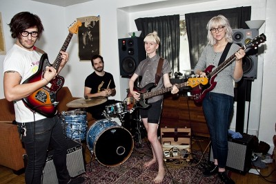 (L–R) Chaz Costello, Bret Meisenbach, Katrina Ricks and Karly Zobrist are four undeniably necessary musical components who form Baby Ghosts.