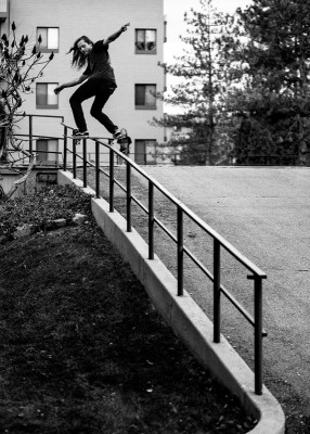 Matt Bergmann – Frontside Boardslide to Fakie – SLC, Utah