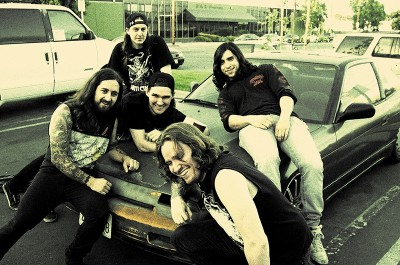 (L–R) Chris Whetzel (bass), Riley Gale (vocals), Chris Ulsh (drums), Nick Stewart (guitar) and Frank Ibanez (guitar) will bring thrash to the Loading Dock on March 10.