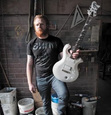 Cult Leader guitarist Mike Mason shreds on his custom-built Mason Guitars.